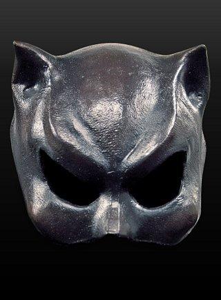 Halloween Karneval Party Kostüm Catwoman Maske aus ()