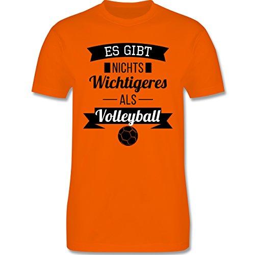 Volleyball - Es gibt nichts Wichtigeres als Volleyball - Herren Premium T-Shirt Orange
