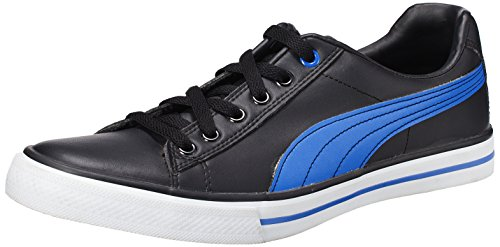 Puma Unisex Salz III DP Black and Strong Blue Sneakers - 10 UK