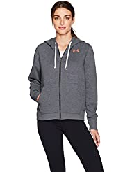 Under Armour Favorite Fleece Fz, Felpa con Cerniera Donna, Grigio Carbone, Small