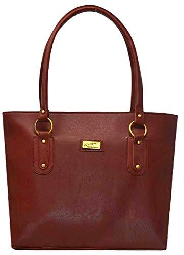 Pynk Fashion Leather Women\'s Handbag - Tan