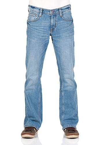 MUSTANG Herren Jeans Oregon - Bootcut - Blau - Light Blue - Mid Blue - Dark Blue - Black, Größe:W 32 L 30, Farbe:Light Blue Denim (202)