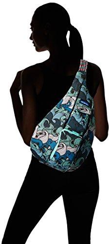KAVU Rope Bag - Einzigartiger Outdoor Crossbody Rucksack Trifft Jeden Alltag Und Macht Es Mit Stil Blau (Ocean Waves)