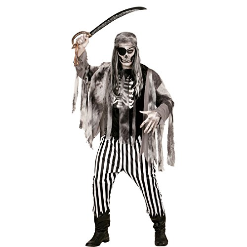 Amakando Geisterkostüm Pirat Zombie Piraten Kostüm S 48 Horror Zombiekostüm Halloweenkostüm Geist Piratenkostüm Herren Halloween Verkleidung Seeräuber