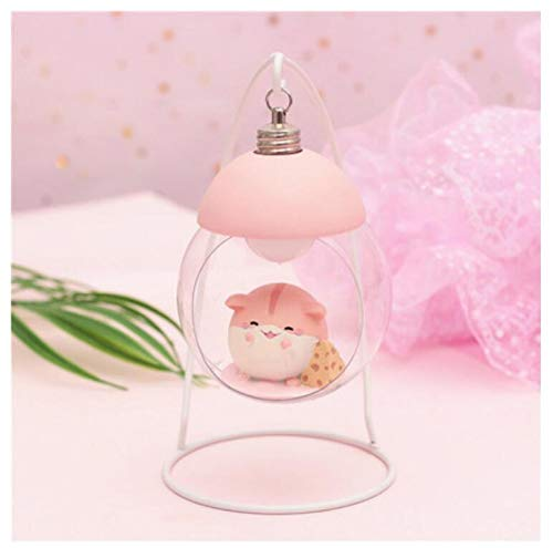 erk cartoon hamster nachtlicht hängenden korb licht zu senden mädchen geschenke mädchen herz geschenk 11,5 * 9,5 * 17,5 cm ()