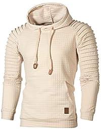 73511c230994 ZYUEER Men s Casual Tops Fashion Autumn Long Sleeve Plaid Hoodie Hooded  Outwear Sweatshirt