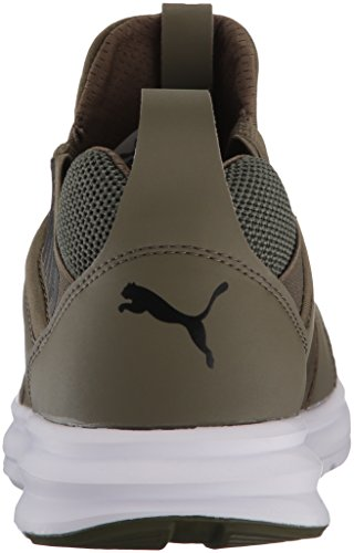 Puma Chaussures en Maille Enzo Pour Hommes Olive Night-puma White