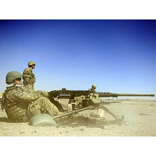 Military USA Air Force M2 50 Calibre Machine Gun Photo Large Wall Art Poster Print Thick Paper 18X24 Inch Militär Vereinigte Staaten von Amerika Macht Fotografieren Wand Poster drucken -