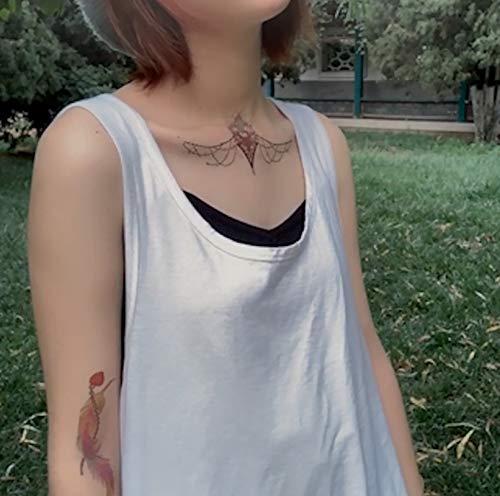 Net rote Blume Arm Tattoo Paste wasserdicht weiblich dauerhafte Rose sexy Verführung Blume Brust Tattoo Narbe Tattoo Aufkleber