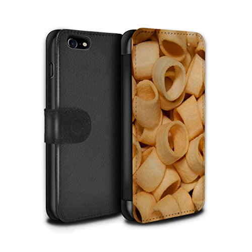 Stuff4 Coque/Etui/Housse Cuir PU Case/Cover pour Apple iPhone 7 / French Fries Design / Casse-Croûte Collection Hula Hoops