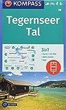 Tegernseer Tal: 3in1 Wanderkarte 1:25000 mit Aktiv Guide inklusive Karte zur offline Verwendung in der KOMPASS-App. Fahrradfahren. Skitouren. Langlaufen. (KOMPASS-Wanderkarten, Band 8) -