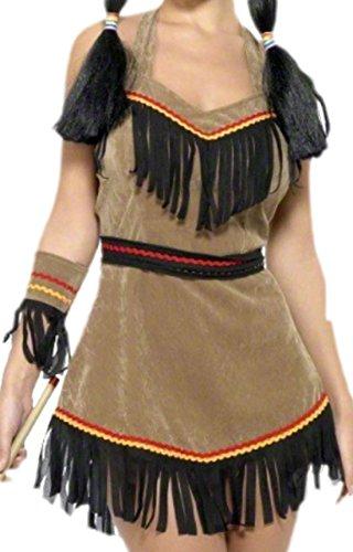 Imagen de erdbeerloft–disfraz karnevalstore24–pocahontas mujer, s–m, color marrón marrón medium alternativa