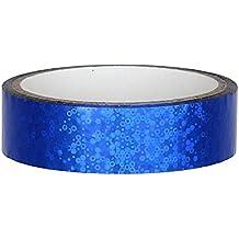 Glitter Decoración cinta adhesiva 25mm x 30m para Hula Hoop, Azul