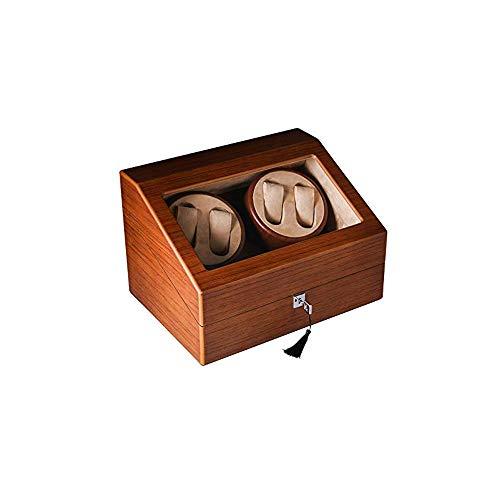 WYKDL Automatico Doppio Watch Winder con due Calma Mabuchi Motors legno Automatic Watch Winder 4 + 6 scatole di immagazzinaggio orologi da collezione Storage Box Box girevole Adatto for donne e uomini