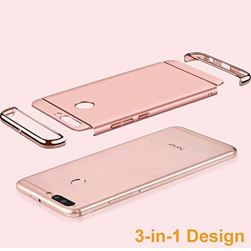 Coque Huawei Honor 8 Pro 5,7 pouces / Honor V9, MSVII® 3-in-1 Design PC Coque Etui Housse Case et Protecteur écran Pour Huawei Honor 8 Pro 5,7 pouces / Honor V9 - Rouge / RED JY50096 Rouge
