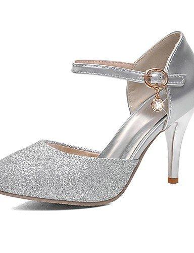 WSS 2016 Chaussures Femme-Mariage / Habillé / Soirée & Evénement-Argent / Or-Talon Aiguille-Talons / Bout Pointu-Talons-Paillette silver-us10.5 / eu42 / uk8.5 / cn43