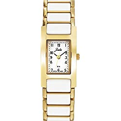 Joalia Women's Analogue Watch with White Dial Analogue Display and Stainless steel plated Bicolour - 631137
