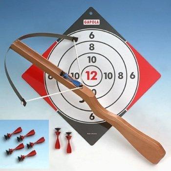 Kinder Armbrust Set mit 8 Sicherheitspfeilen und Zielscheibe -