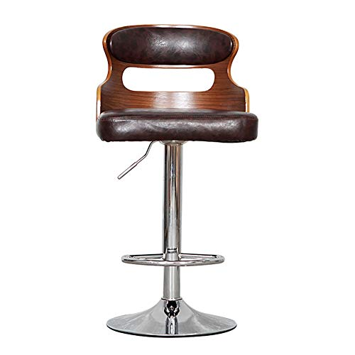 Retro Adjustable Bar Stools,360 Degree Swivel, Bar Creative High Chair European Chair (Color: Deep Coffee Color, Größe: H90cm)