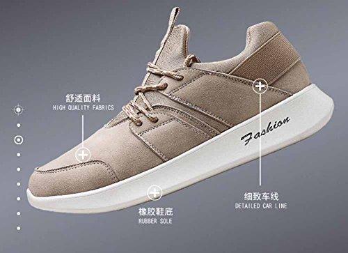 Uomini Pattini Casuali Respirabili 2017 Autunno Inverno Nuova Gioventù Lace Up Sneakers Hip-hop Scarpe Beige