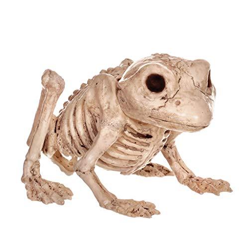 C&S Retro Frösche Skelett Spuk Haus Tier Skelett Horror Bar Film Requisiten Halloween Ornament