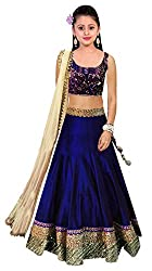 Clickedia Kids wear Girls Bhagalpuri silk Lehenga Choli/ Chaniya Choli for Navratri and Festive���� - traditional wear ( 8-12 yrs)