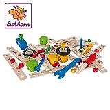 Eichhorn - 100039024 - Jeu de Construction Bois - Set de Construction - 75 Pièces Bois