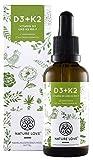 Vitamin D3 + K2 Tropfen 50ml. Neu/Premium: Besonders hohe Stabilität. Vita MK7 von Gnosis. 1000 IE Vitamin D3 + Vitamin k2 MK-7 99,7% All Trans. Flüssig, hochdosiert, hergestellt in Deutschland