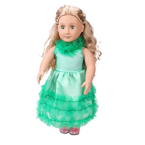 Zolimx Schön Puppe Kleid Baby, Sommerkleidung Kleid Rock für 18 Zoll Amerikanische Puppe Zubehör Mädchen Spielzeug