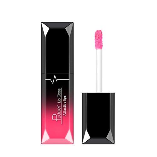 B Blesiya Wasserdichte Langlebige Matte Flüssige Lippenstifte, kosmetische Make-up Antihaft-Cup...