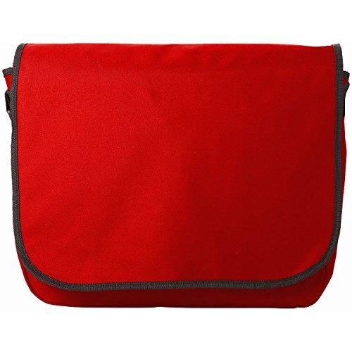 Borsa da Lavoro Malibu Cartella Conference Porta Documenti A4 Valigetta Messenger Scuola Università Viaggio Patella Chiusura Velcro Tasche Zip Tracolla Regolabile (Rosso) Rosso