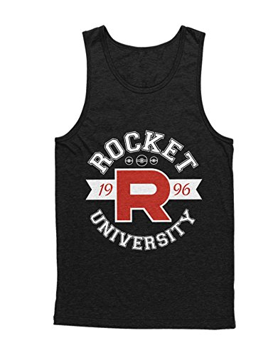 Tank-Top Poke Go Team Rocket University Jessie James Mauzi Kanto 1996 Blue Version Pokeball Catch 'Em All Hype X Y Blue Red Yellow Plus Hype Nerd Game C210012 Schwarz M (Jessie Und James Kostüm)