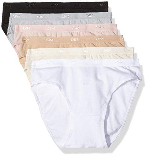 Dim - Les Pockets Ecodim - Slip - Lot de 6 - Femme - Multicolore (Lot Basique) - FR :  40/42 (Taille fabricant  FR :  40/42)