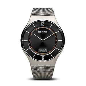 BERING Herren-Armbanduhr Analog Quarz Edelstahl 51640-077