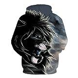 Aigrun Der Neue Hoodie des Löwenkopfes des Tierdruckes der Männer 3D für Herbstmode-Trainingsanzug-Straßenmantel