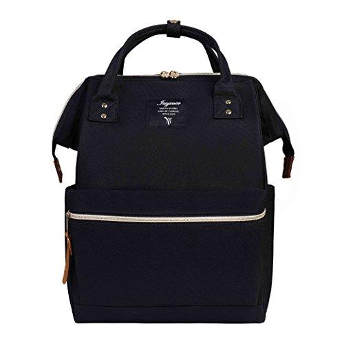 Nylon Zaino, Donna Zaino Casual Borsa Scuola per PC portatili Scuola Borse Casual Vintage retrò Viaggi Trekking Backpack