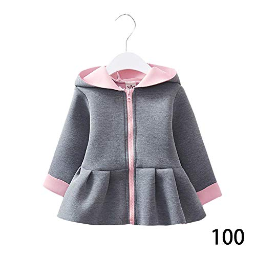 DRAULIC Baby Girl Zipper Hoodies Jacke Pullover Pullover Sweatshirt Kleinkind Mädchen Strickjacke Cute French Terry
