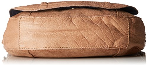 PIECES Damen Pccameo Leather Cross Over Bag Schultertasche, 6x20x22 cm Braun (Nature)