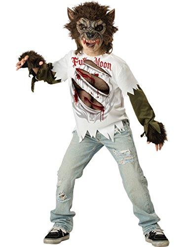 Wolfsjunge Werwolf Kostüm für Kinder - Gr. (Werwolf Shirt Kostüm)