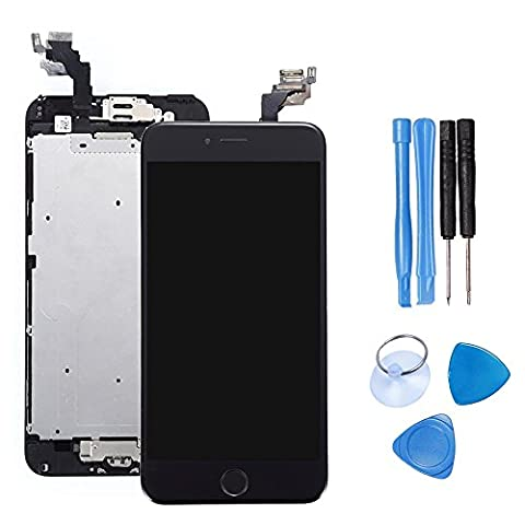 Ibaye® LCD Display Touch Digitizer Screen Assembly Replacement for iPhone 6 Plus 5.5 Inch With Spare Parts Home Button, Flex Cable, Camera