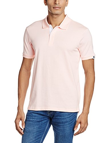Symbol Men's Polo T-Shirt (SS16PLSP10_X-Large_Pink)
