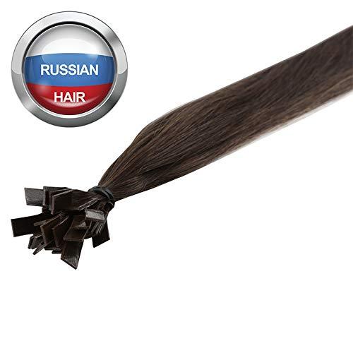 Extensions Cheveux Kératine 100 mèches russes 0,8gr Noisette 50cm