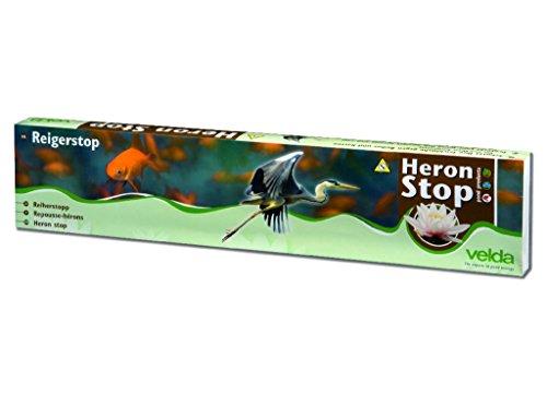 Velda 128010 Teichschutz Nylondraht mit Glöckchen gegen Reiher und Katzen, Heron Stop