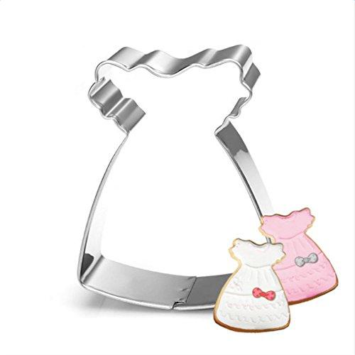 CAOLATOR Edelstahl Schokolade Keks Ausstecher Kuchen Plätzchen Ausstecherform Baby-Kleid Biskuitform