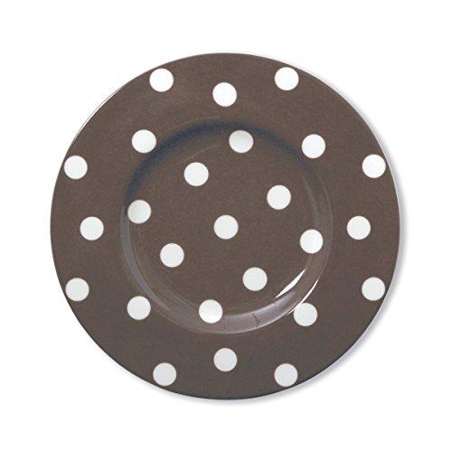 Bruno Evrard Assiette Dessert à Pois Vison en Porcelaine 22cm - Lot de 6 - Freshness Dots