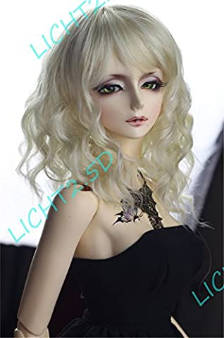 Tita-Doremi BJD Wig Ball-jointed Doll 1/6 6-7 Inch 15-17cm SD YOSD AOD DOD Luti Baby BB Blonde Long Wig Hair (Wig Only, Not A Doll )