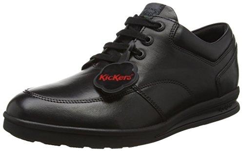 Kickers Boys' Troiko Lace-Youth Derbys, Black (Black), 5 UK 38 EU