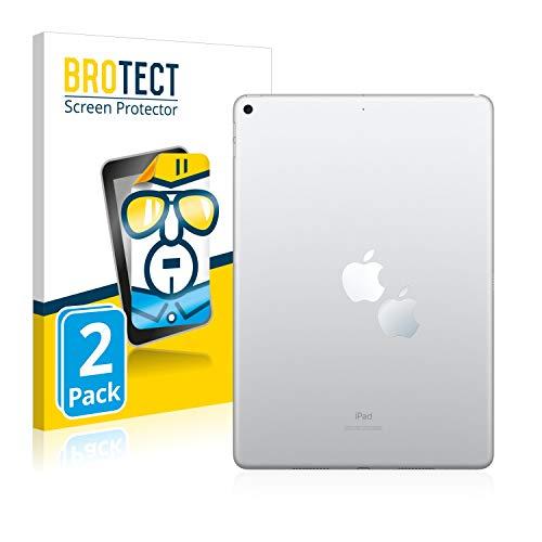 Preisvergleich Produktbild BROTECT Schutzfolie kompatibel mit Apple iPad Air 2019 (Apple Logo auf der Rückseite) [2er Pack] - klarer Displayschutz