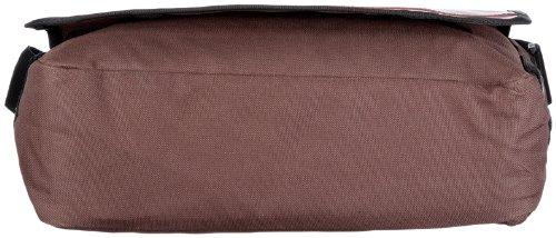 Frankie's Garage Post Bag T20980964L-045-010-072, Borsa unisex adulto, 37x25x13 cm (L x A x P) Marrone/Marrone scuro-Borgogna-Rosa