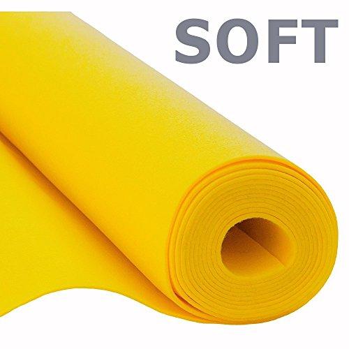 Filz, Filzstoff, Dekorationsfilz, Weicher Filz, Breite 150cm, Dicke 3mm, Meterware 0,5lfm – gelb